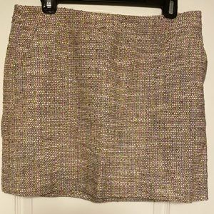 New J crew pink tweed mini skirt